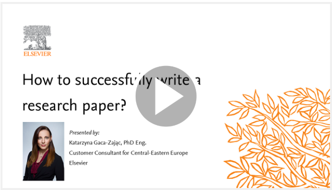 Seminar One: How to successfully write a scientific paper? – July 30th, 11:00 CEST