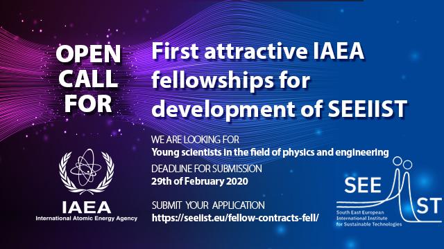 Call for the first IAEA-SEEIIST fellowships