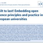 Built to last! Embedding open science principles and practice into European universities