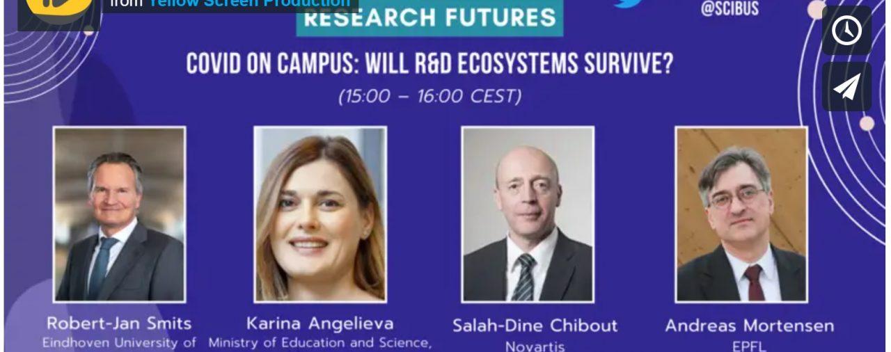 """Заместник-министър Карина Ангелиева беше лектор в уебинар на тема """"COVID-19 - Ще оцелее ли научноизследователската екосистема"""""""