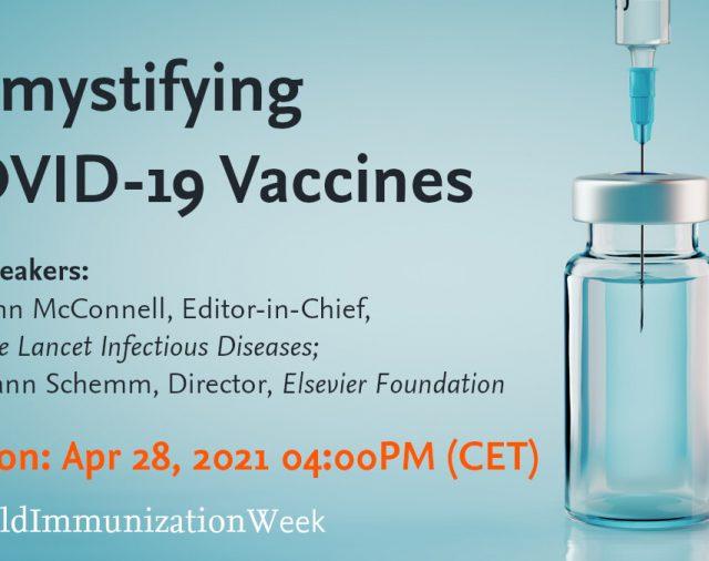 Elsevier организира информационни събития по темата за ваксините срещу COVID-19
