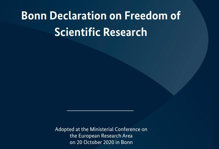 Европейският съюз прие Бонска декларация за свободата на научните изследвания